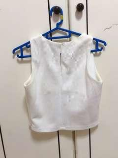 (3 for $12) White Crop Top