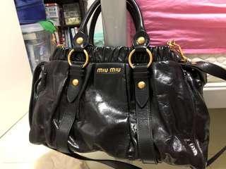 🚚 Mui Mui Black Leather Bag