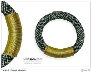 Social goods co-op twisted cleopatra bracelet