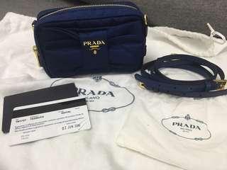 PRADA Royal Tessuto Fiocco Nylon Bow Crossbody Bag