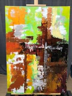 """Abstract Painting - """"In Cube"""""""