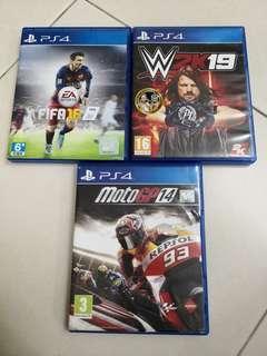 Ps4 Games Fifa 16 WWE 2k19 Moto GP 14