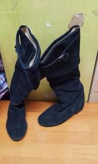 2091 FABIO RUSCONO意大利真皮靴,15吋高筒,0.5吋踭 $5