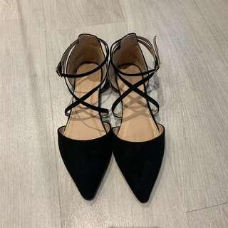 TopShop Pearl Embedded Point Toe Flats
