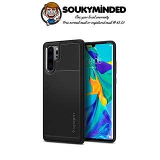 [IN-STOCK] Spigen Rugged Armor Designed for Huawei P30 Pro Case (2019) - Matte Black