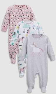 🚚 Next baby 🦄 sleepsuits
