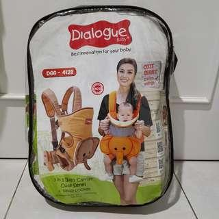 Dialogue Gendongan Ransel 3 in 1+kantung kecil cute series - Baby carrier
