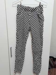 棋盤格長褲