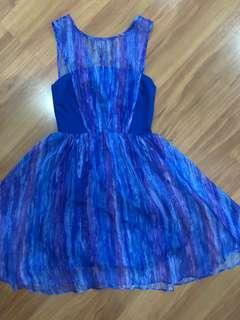 Blue Purple Dress