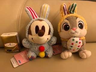 日本 復活假 迪士尼 Sega 夾公仔 兔仔 米奇 掛件公仔