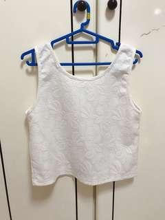 🚚 (3 for $12) white floral top