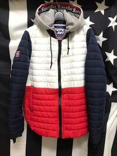 Superdry 極度乾燥 鋪面外套 帽踢外套 女版 XL 二手