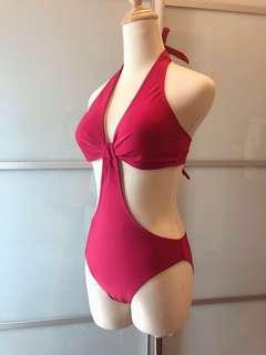 Red swimsuit swimming suit #SSV8