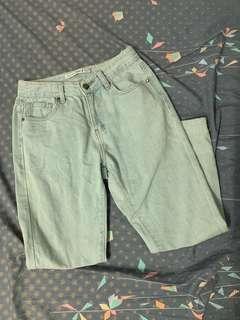 🚚 Meierq淺藍牛仔褲