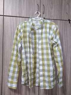 Yellow Long Sleeve Flannel Shirt