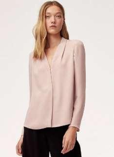 ISO: Aritzia Babaton Akira Blouse in Camille (pink) sz XXS