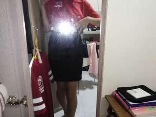 black pencil skirt office