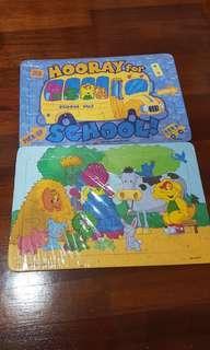 Puzzle Barney School Bus & Farm (Take All)