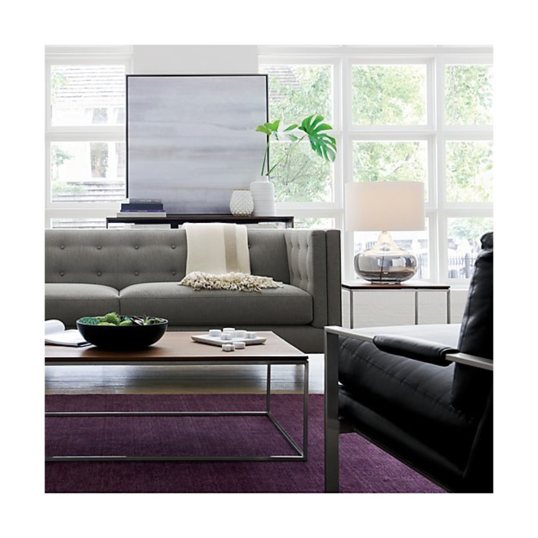 4 X 3 M Large Baxter Plum Purple Wool Rug From Crate Barrel