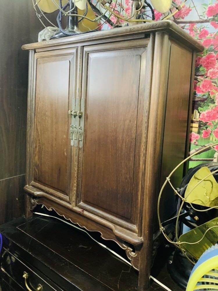 古董雞翅木書櫃