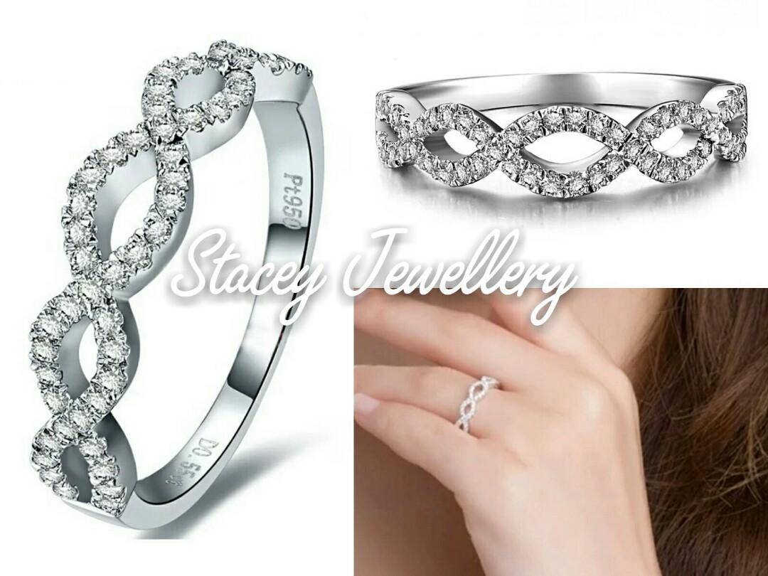 高碳鑽簡約女戒指