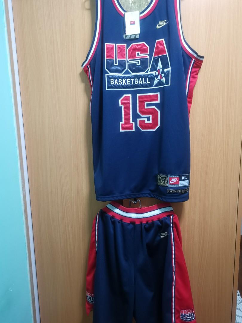 98bade545067 全球限量(全套出售) Nike USA Dream Team szXL Magic Johnson Jersey ...