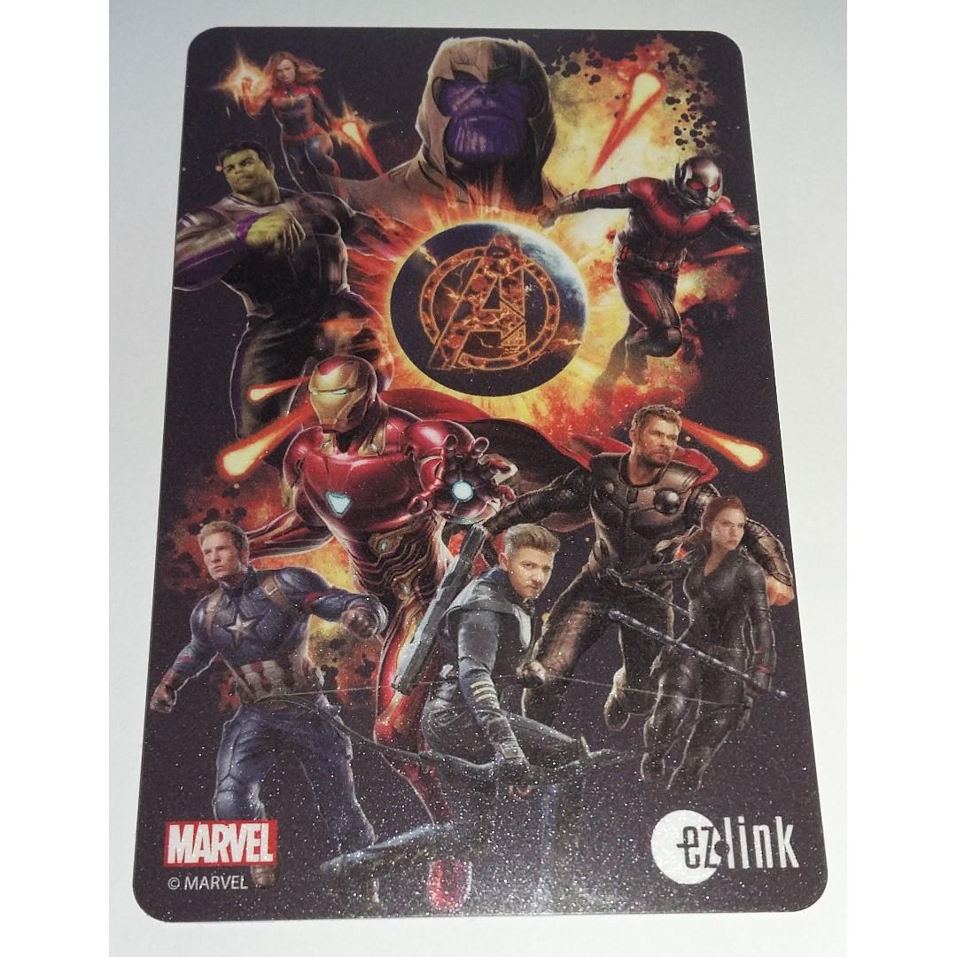Brand New Marvel Avengers Infinity War - End Game Ezlink Card - Design 2