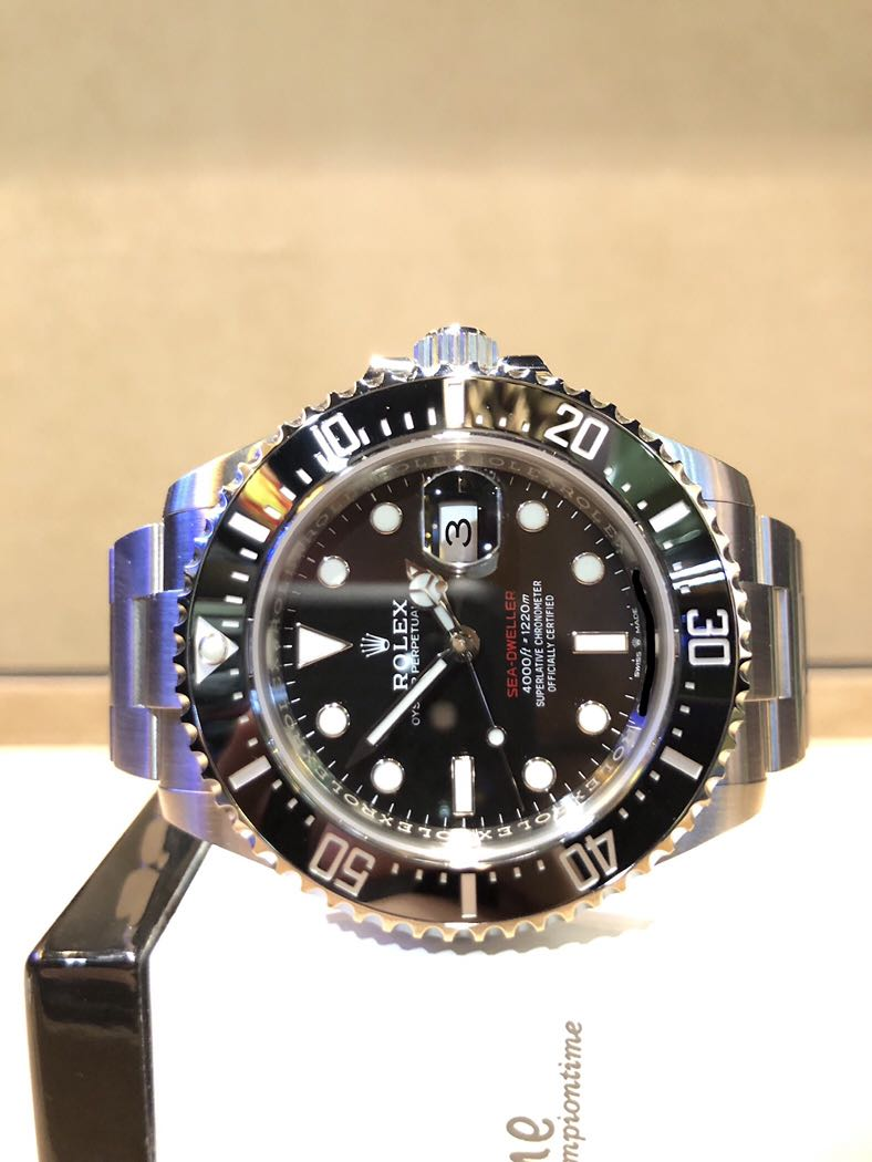 Brand New Rolex Oyster Sea Dweller Red 43 126600 Black Dial Automatic Steel Casing Bracelet