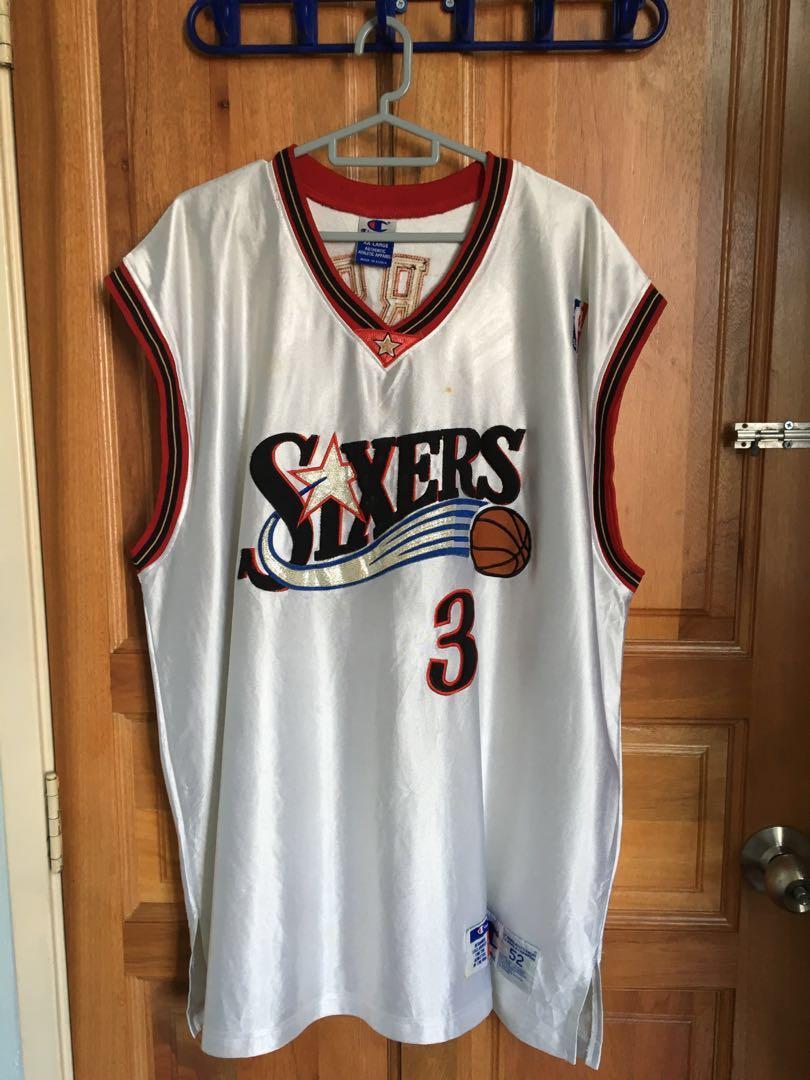 buy online e49d0 86ff3 Champion NBA Sixers Allen Iverson authentic jersey size 52 ...