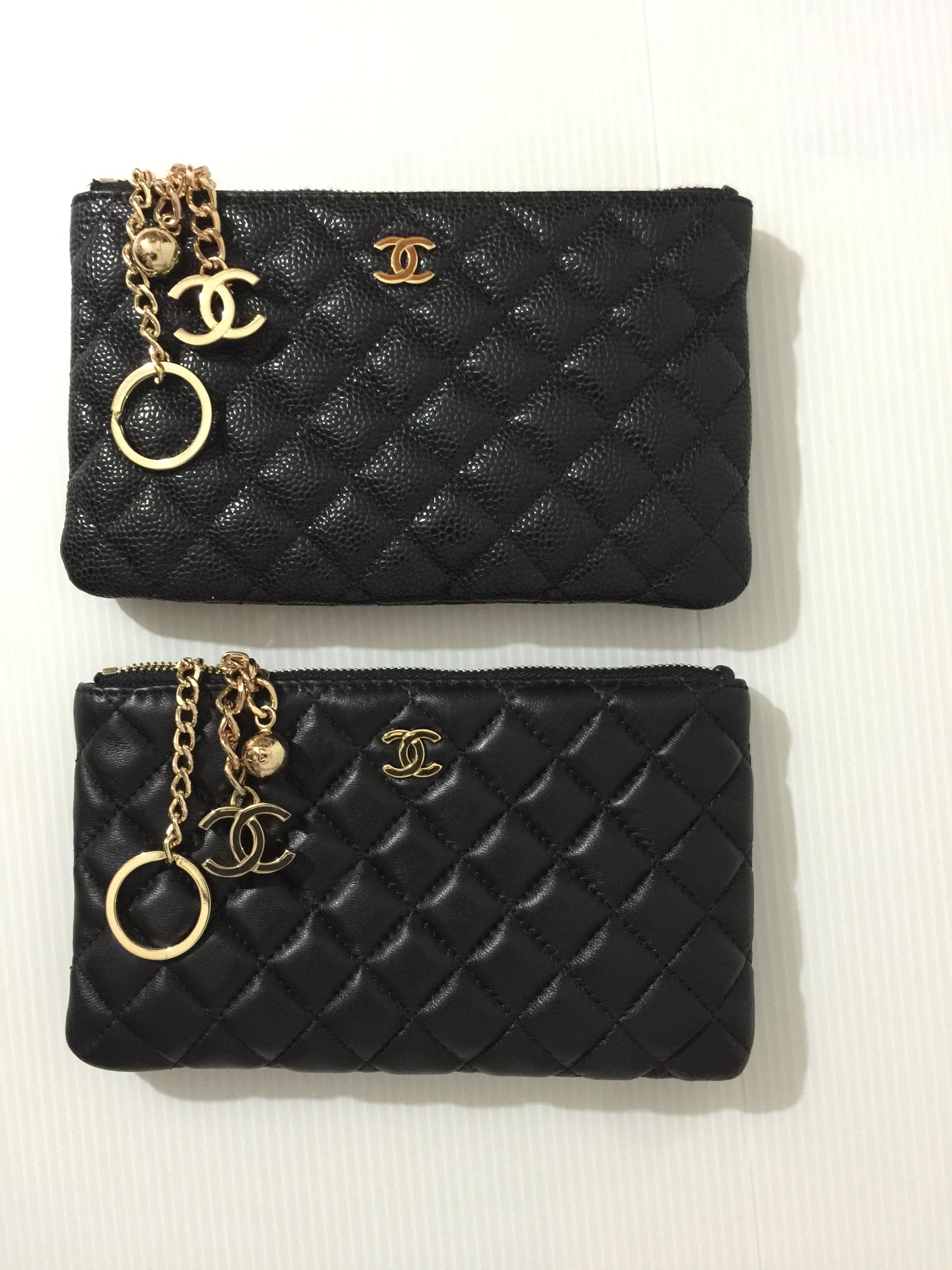 84b87a00fc5b4d Chanel Caviar / Lambskin Silver or Gold Hardware VIP Gift Pouch / Purse,  Everything Else on Carousell