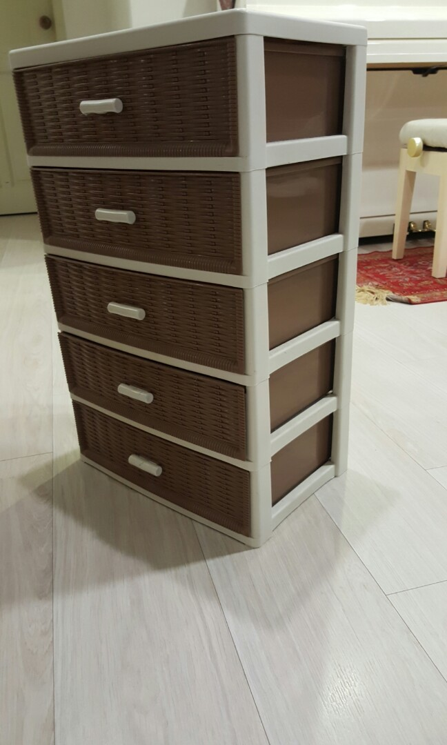 Chest Of Drawers 4 Tier Mini Plastic Drawer Furniture Shelves