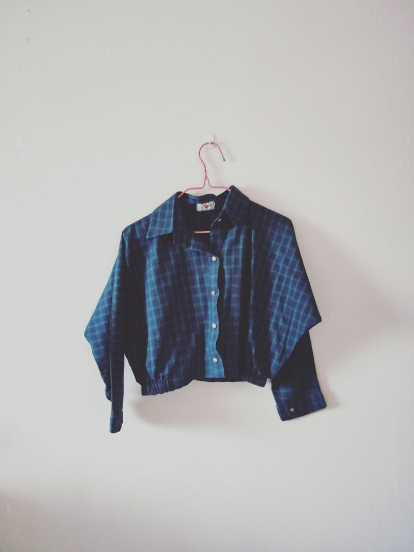 Cropped Checkered Shirt