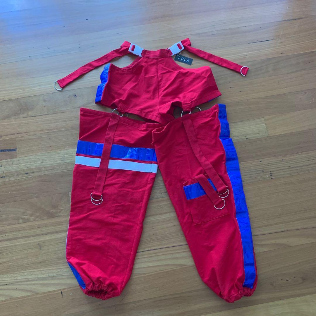 Festival Chap Style Buckle Pants