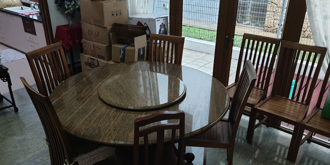 Share This Listing & Granite Dining Table (chairs not included) Furniture Tables ...
