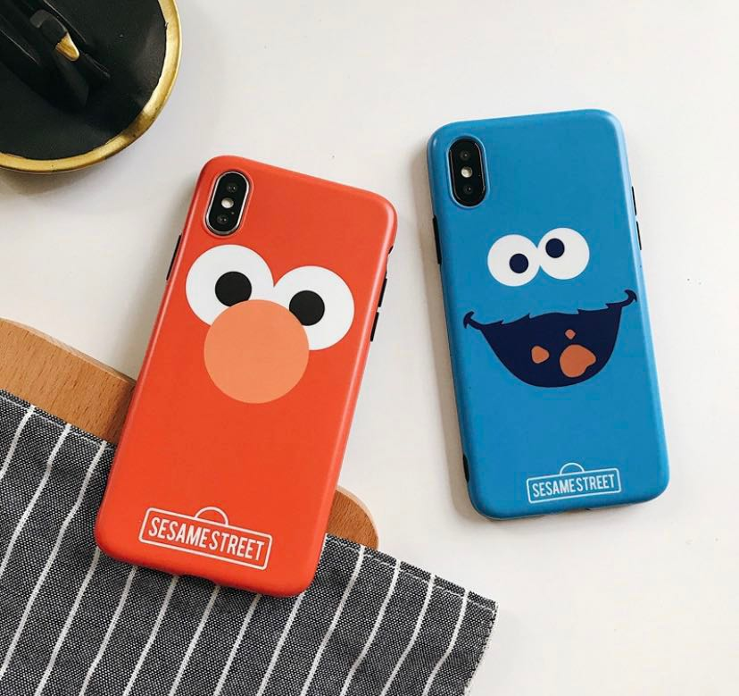 iPhone XS/XS MAX Elmo/Cookie Monster Case, Mobile Phones