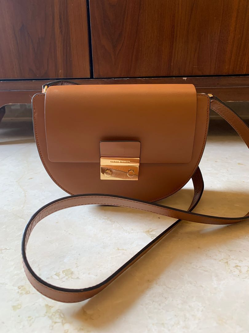d6801c4f83 Karen Millen leather sling bag, Women's Fashion, Bags & Wallets ...