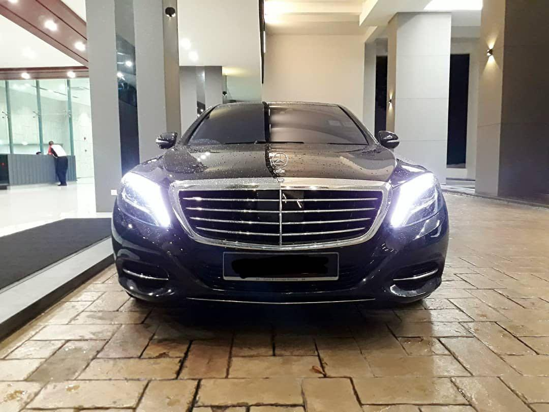 Luxury car rental Mercedes s400 available for rental