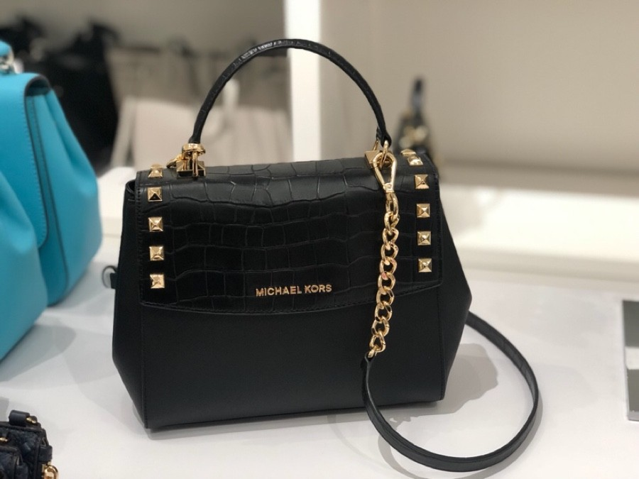 93295cc74dc6 Michael Kors Karla Medium Studded Top Handle Crossbody - Pre-order, Luxury,  Bags & Wallets, Sling Bags on Carousell
