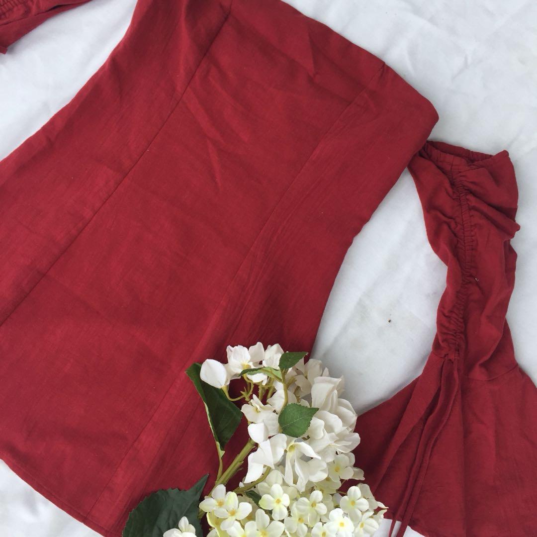 Mint Vanilla • ruched dress