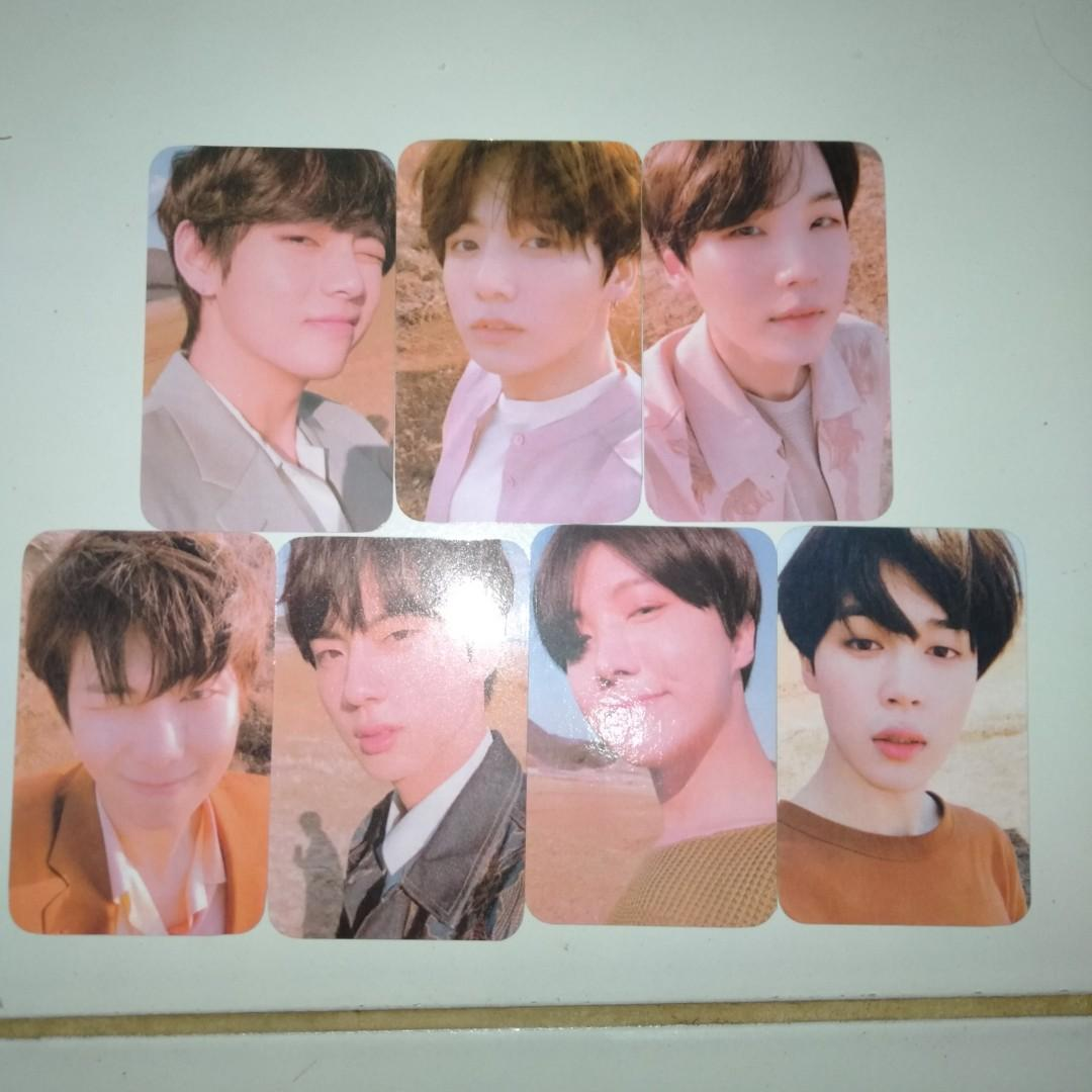 Photocard BTS from album Love Yourself Tear versi Y unofficial