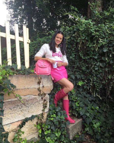 Ralph Lauren Pink Wellington Boots / Gumboots / Rain Boots