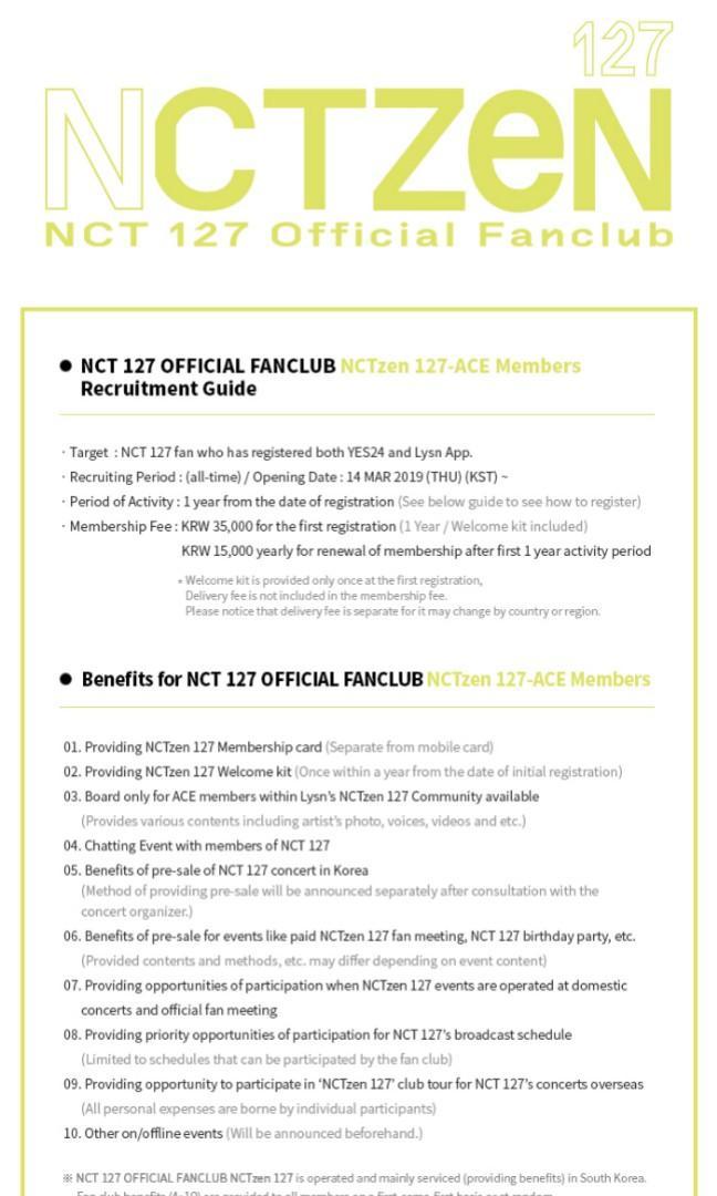 [SERVICE /WORLDWIDE] NCT 127 - NCTZEN 127-ACE Recruitment Registration