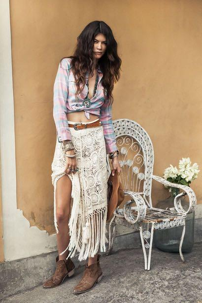 Spell and the gypsy collective margarita crochet skirt