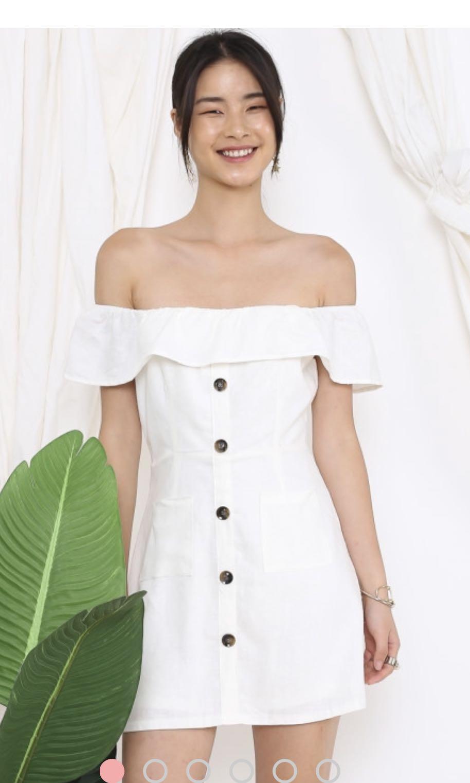 cc31dbc3e0006 SUPERGURL KIRSTEN LINEN SKIRT ROMPER (WHITE), Women's Fashion ...