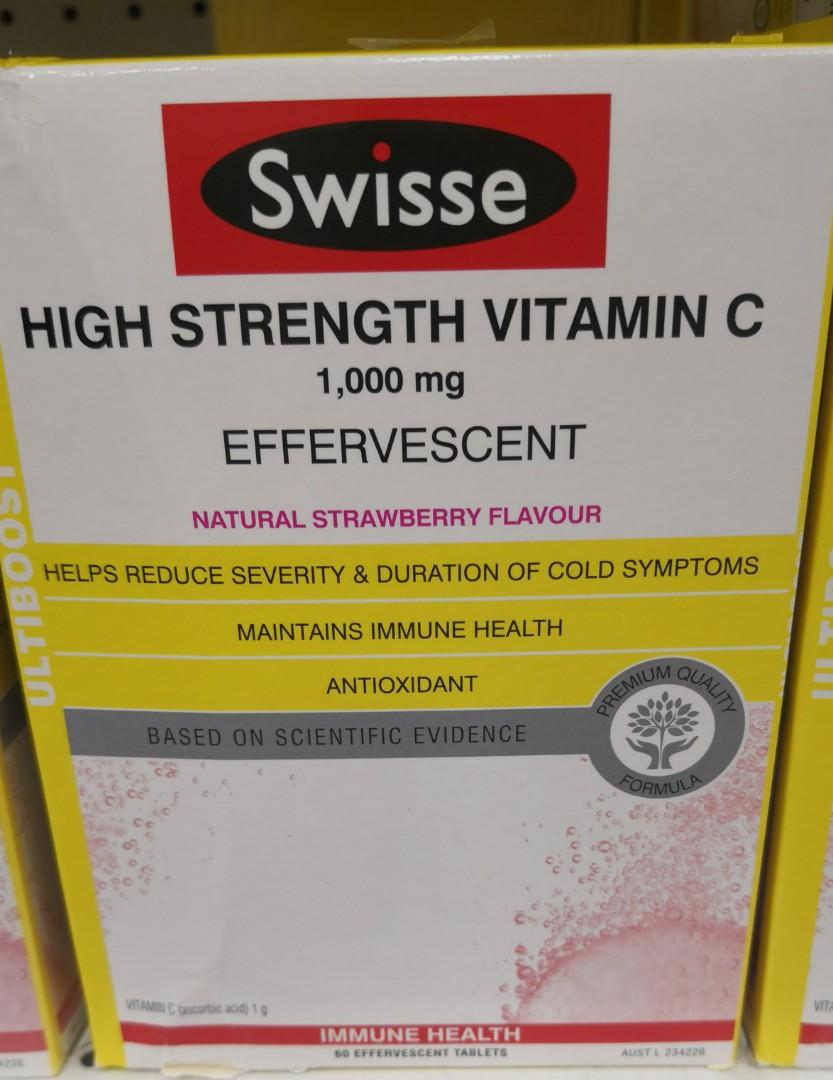 SWISSE 高濃度維他命 C 泡騰片 HIGH STRENGTH VIT C 1000MG EFFERVESCENT   SWISSE 高濃度維他命 C 泡騰片 HIGH STRENGTH VIT C 1000MG EFFERVESCENT