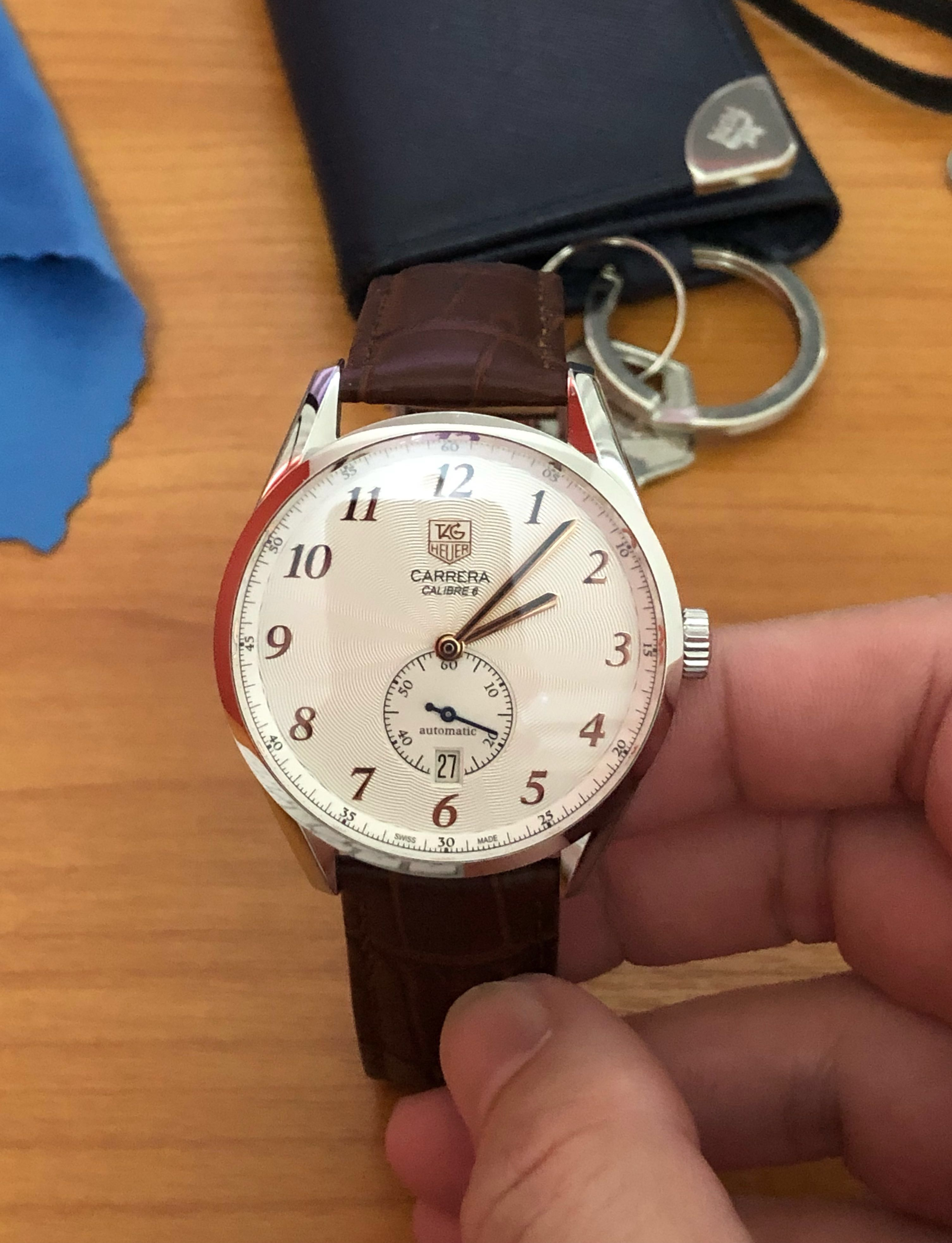 ebc414d343e TAG Heuer Carrera Heritage Calibre 6 Automatic WAS2112.FC6181 Trade, Men's  Fashion, Watches on Carousell