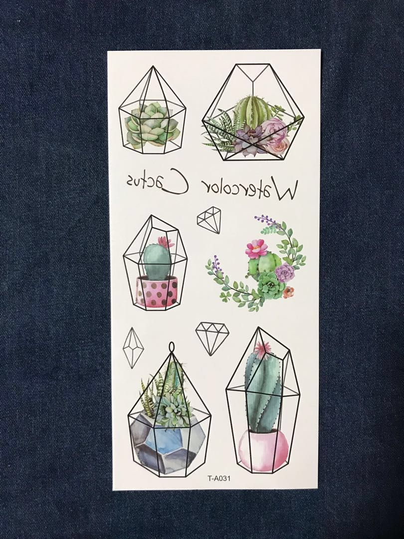 67a40579c2e78 Temporary Tattoo Cactus , Everything Else on Carousell