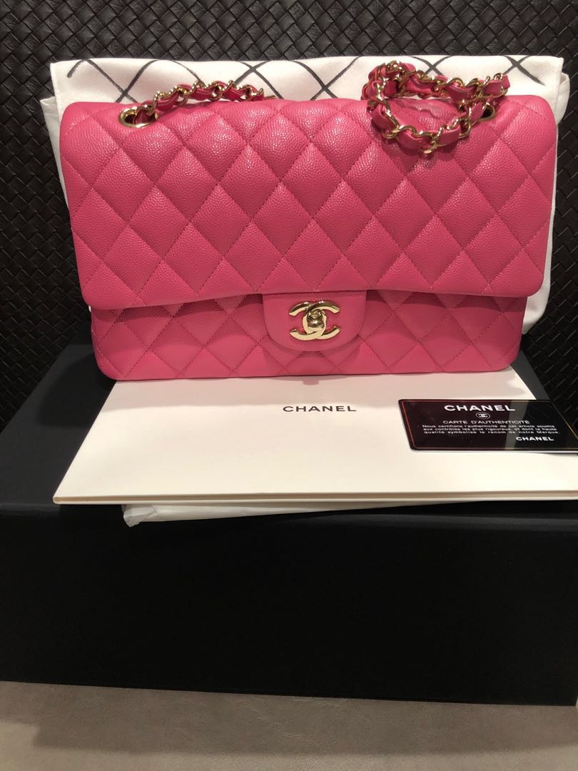 a7e5947b9f07 Used once Chanel medium classic bag in beautiful and sought after ...