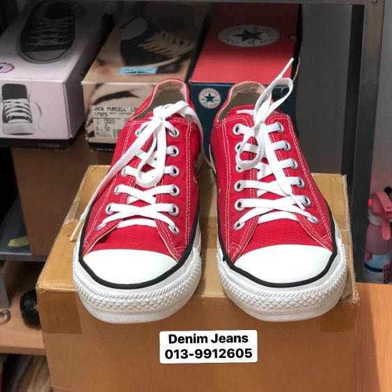 84649fb41a1ef5 Vintage Converse made in USA Red size 8
