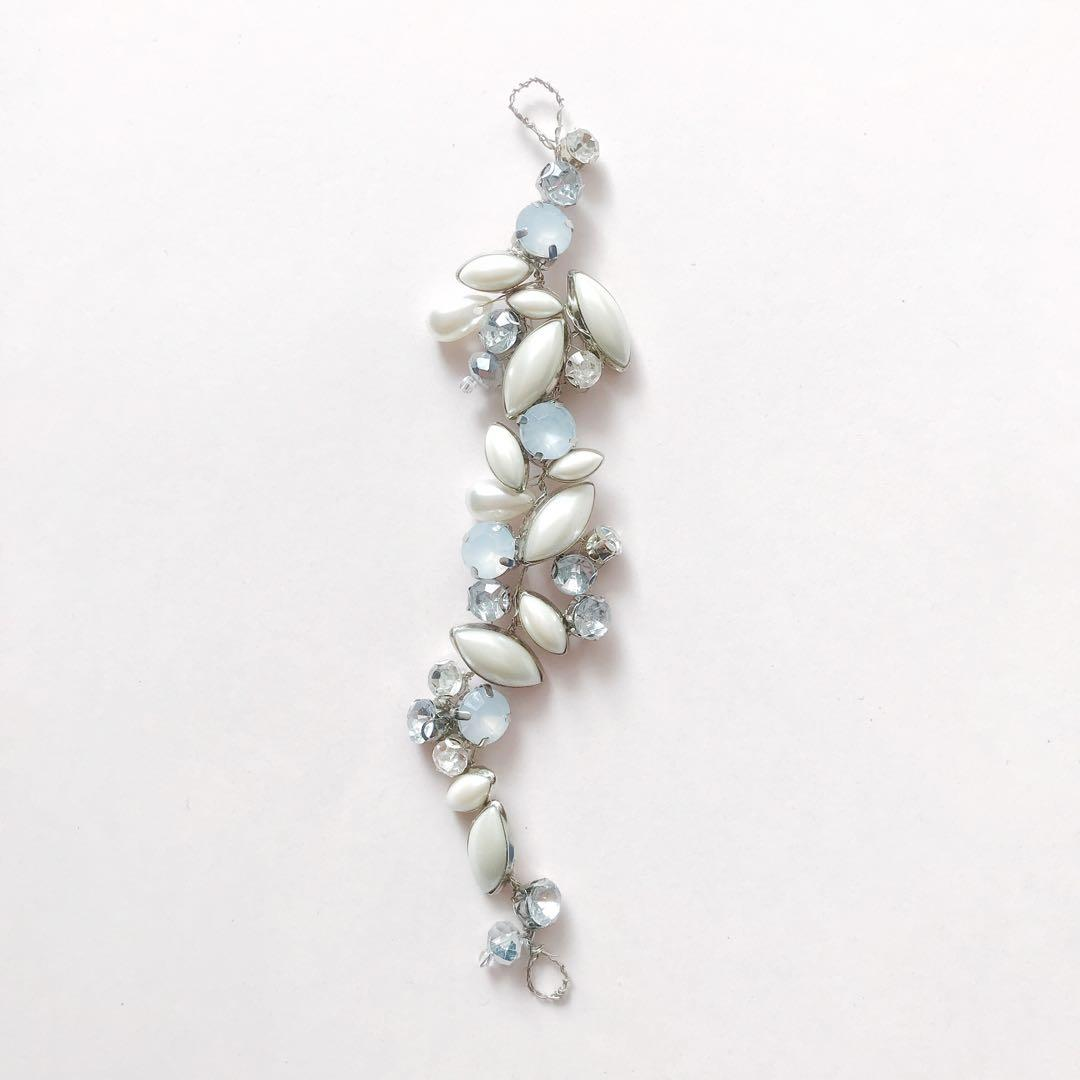 Your little something blue wedding hairpin